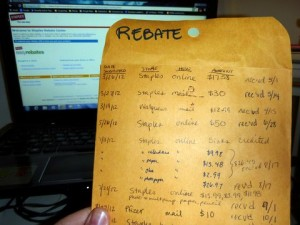Staples Rebate Envelope