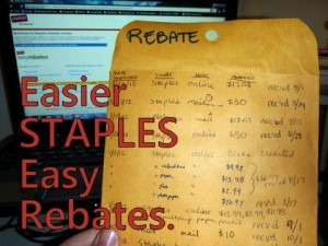 Staples Rebate Envelope with text