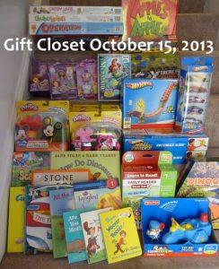 Gift Closet October 2013