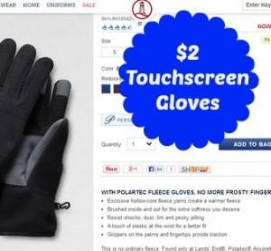 $2 Touchscreen Gloves using Rewards