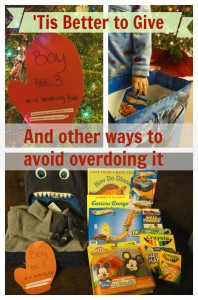Better to give and other ways to avoid overdoing holiday gifts