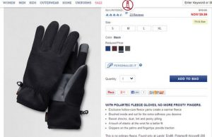 "$1.50 for $20 Lands End Gloves Using ""No Minimum Purchase"" Coupon"