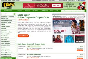 With Ebates get Free Stuff with No Minimum Purchase Coupons