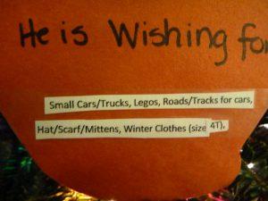 Donation Wishlist