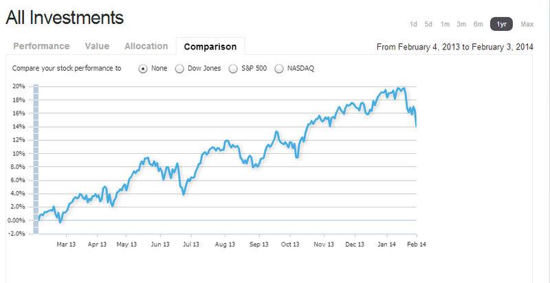 Investment Performance Feb 2013 through Feb 2014