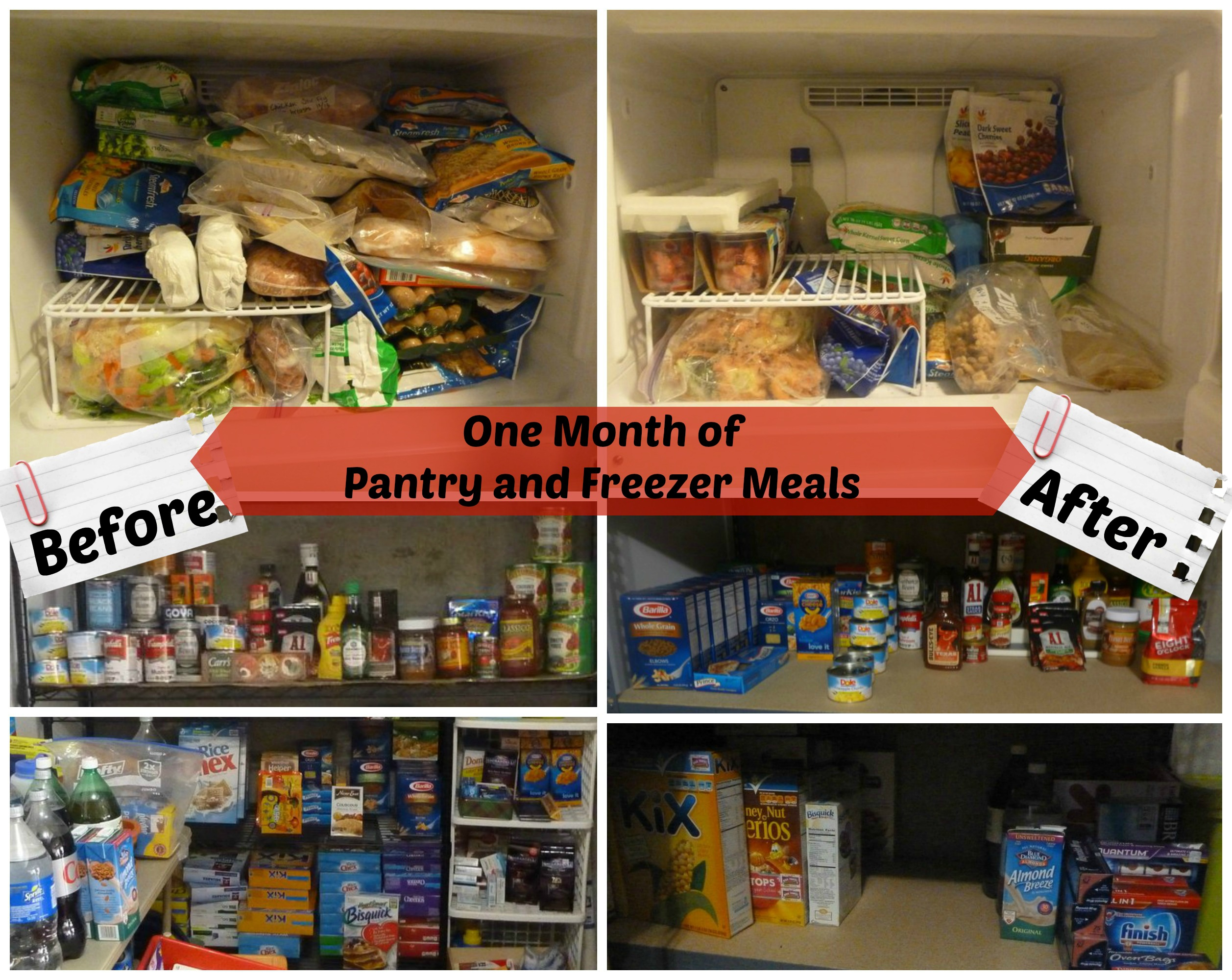 One Month of Pantry and Freezer Meals