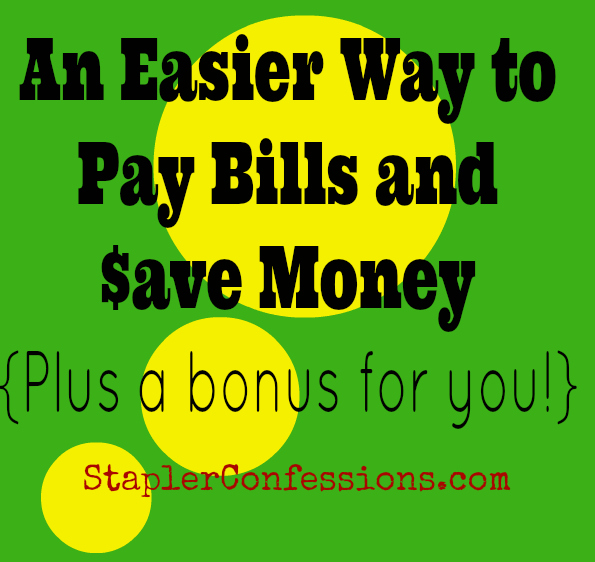 An Easier Way to Pay Bills and Save Money