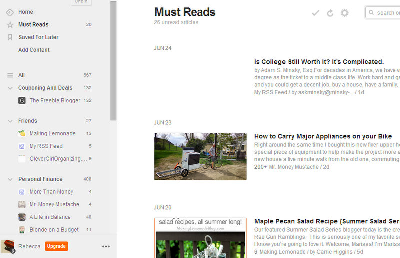 Save time by putting the blogs you follow into a blog reader like Feedly.