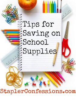 Ways to save $$ on school supplies.