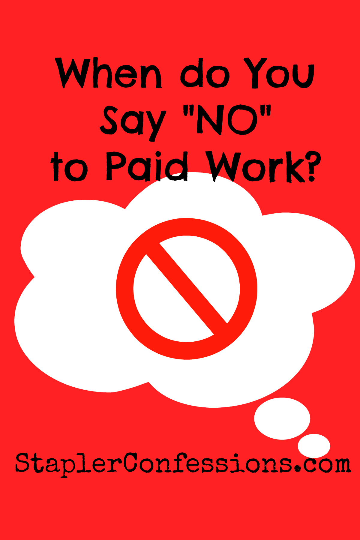 """I say """"no"""" to my preschooler all the time. How come I can't say """"no"""" when it comes to my own well-being?"""