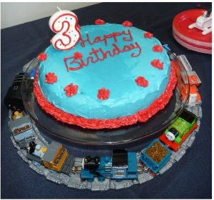 Thomas the Train 3rd Birthday cake