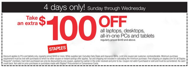 $100 off computers