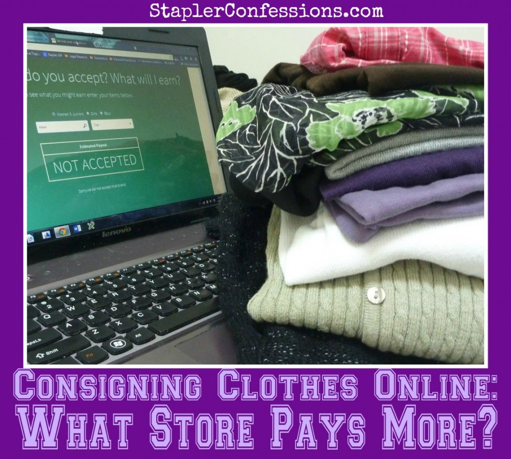 Consigning clothes online is quick and easy -- but who pays more for your unwanted clothes?