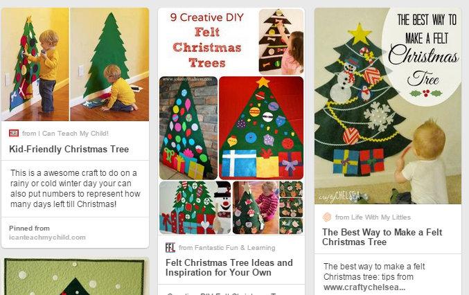 Pinterest Inspired Felt Christmas Trees