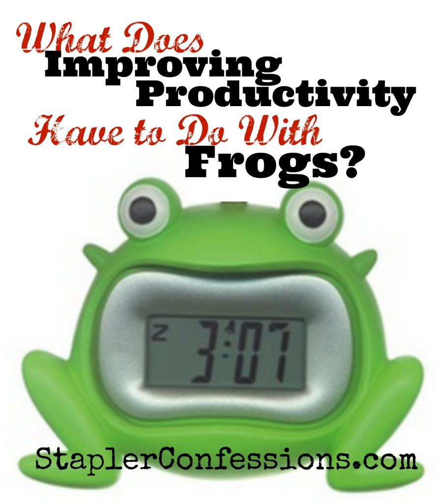 What does improving productivity have to do with frogs