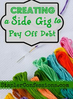 Creating a side gig to pay off debt