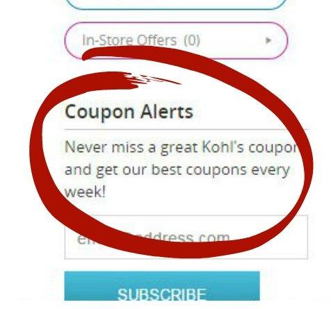 Kohl's Coupon alerts on Groupon Coupon-001